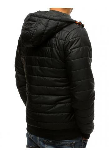 Prošívaná pánská bunda černé barvy na přechodné období
