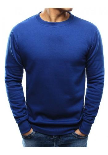 Klasická pánská mikina modré barvy bez kapuce