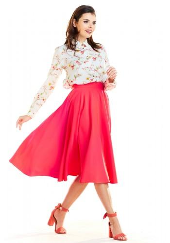 Dámská rozšířená sukně s kapsami v barvě ecru