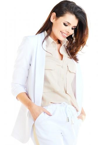 Kaki volné sako bez zapínání pro dámy