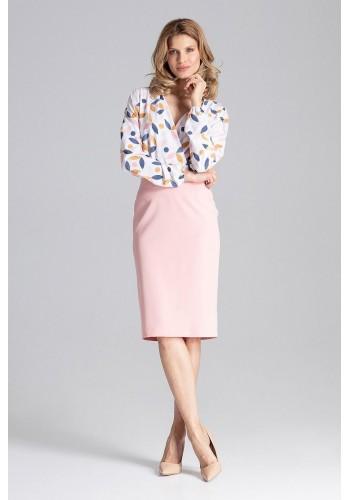 Rozšířená dámská sukně šedé barvy