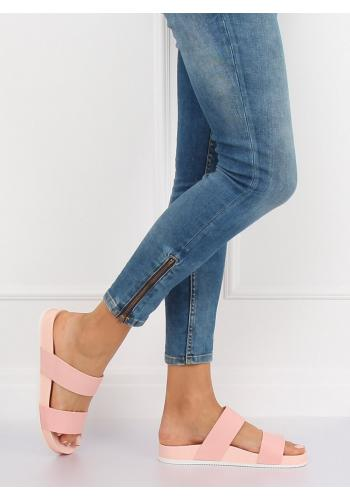 Dámské gumové pantofle na pohodlné podrážce v tmavě modré barvě
