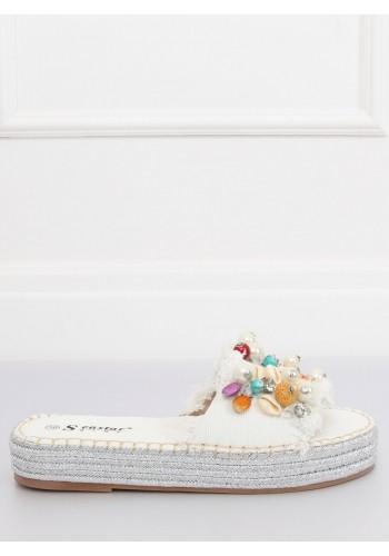 Korálové gumové pantofle na pohodlné podrážce pro dámy