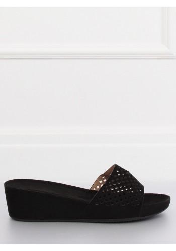 Žluté módní pantofle na gumové podrážce pro dámy