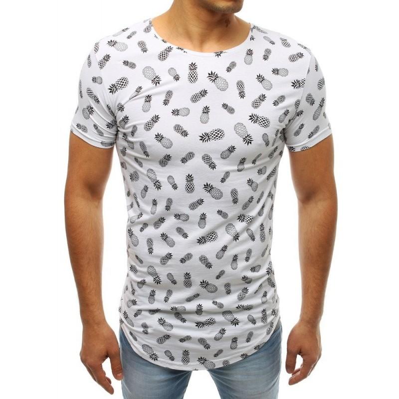 Pánské módní tričko s motivem kotvy v černé barvě