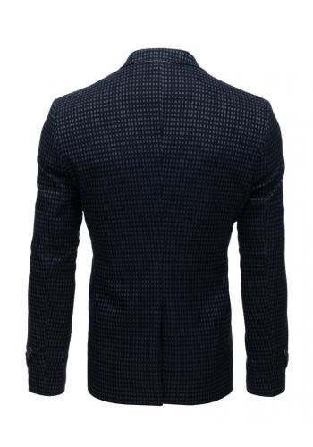 Neformální pánské sako tmavě modré barvy se dvěma knoflíky