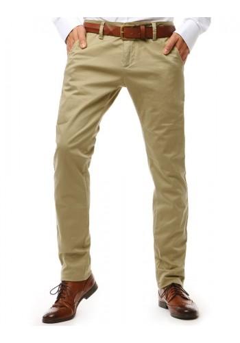 Šedé elegantní kalhoty Chinos pro pány