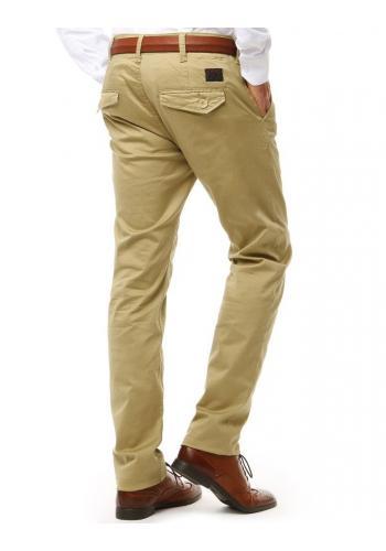 Elegantní pánské kalhoty Chinos béžové barvy