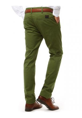 Zelené elegantní kalhoty Chinos pro pány