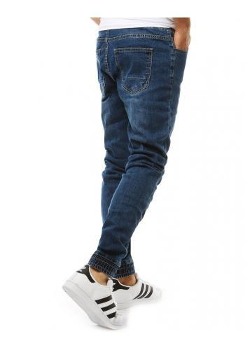 Stylové pánské Joggery modré barvy s riflovým vzhledem