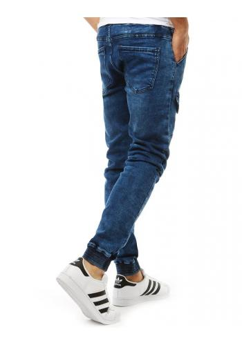 Modré stylové Joggery s riflovým vzhledem pro pány