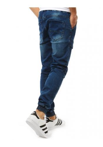 Módní pánské Joggery modré barvy s riflovým vzhledem