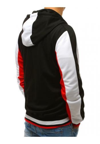 Sportovní pánská mikina černé barvy s kapucí