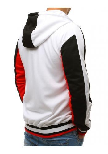 Sportovní pánská mikina černé barvy s kontrastními vložkami