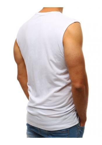 Bílé sportovní tričko s potiskem pro pány
