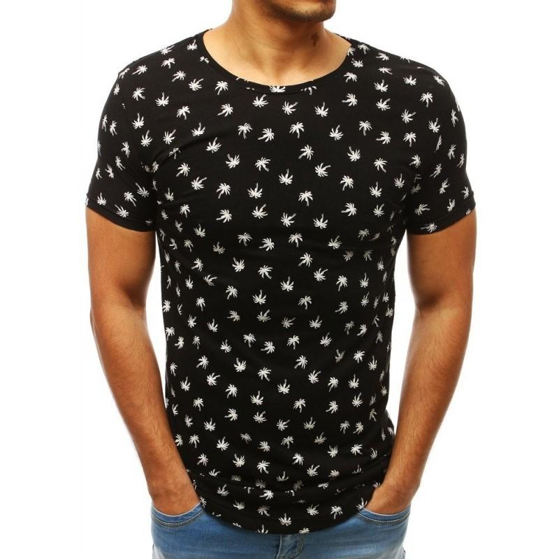 Pánské módní tričko s motivem ananasů v bílé barvě
