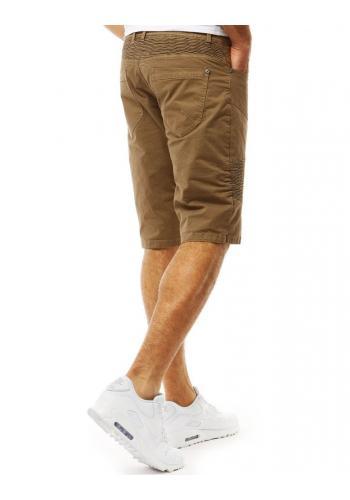 Šedé módní šortky s prošíváním pro pány