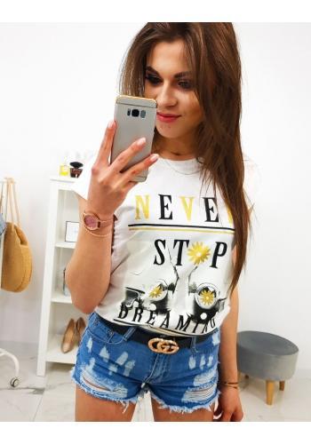 Dámské stylové tričko s potiskem v černé barvě