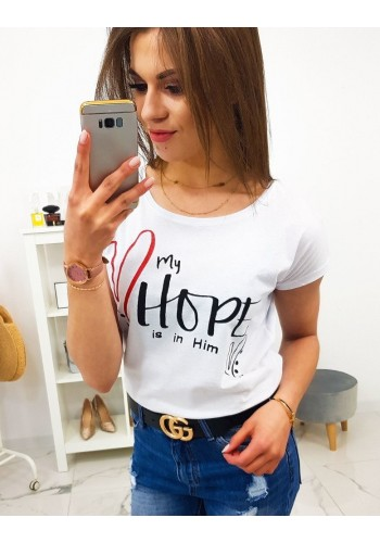 Dámské bavlněné tričko s potiskem v malinové barvě