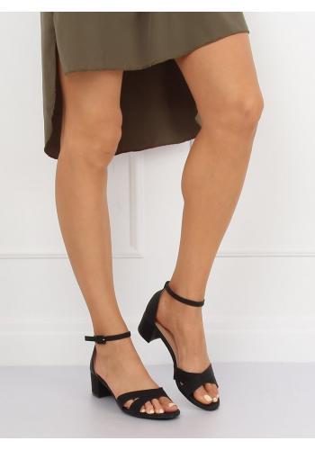 Semišové dámské sandály šedé barvy na korkové podrážce