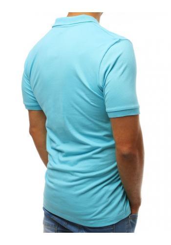 Tmavě modrá módní polokošile s nášivkou pro pány