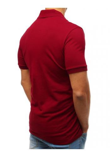Pánská bavlněná polokošile v červené barvě