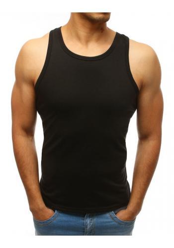 Pánské klasické tričko bez rukávů v černé barvě