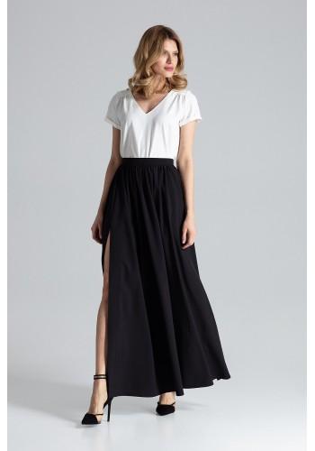 Tužková dámská sukně hnědé barvy
