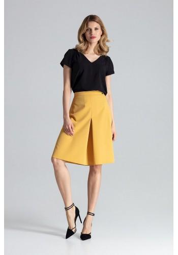Dámská áčková sukně v hnědé barvě