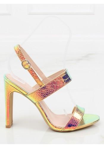 3d855cd7d451 Dámské semišové sandály na stabilním podpatku v tmavě modré barvě ...