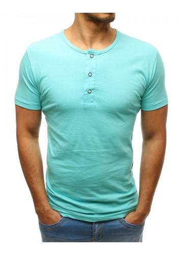 Bavlněné pánské tričko černé barvy s knoflíky