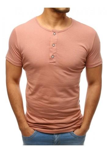 Pánské bavlněné tričko s knoflíky v bordové barvě