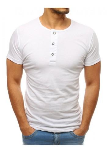 Bavlněné pánské tričko tmavě modré barvy s knoflíky