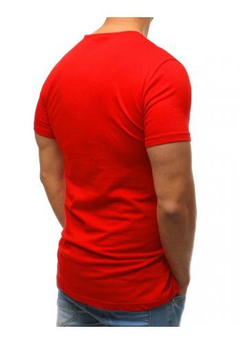 Zelené bavlněné tričko s knoflíky pro pány