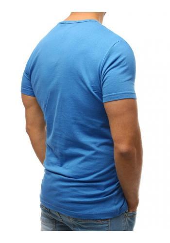 Pánské bavlněné tričko s knoflíky v lososové barvě