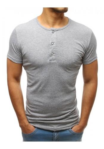 Bavlněné pánské tričko bílé barvy s knoflíky
