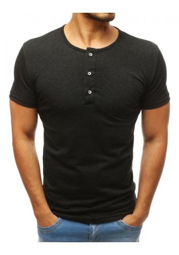 Červené bavlněné tričko s knoflíky pro pány