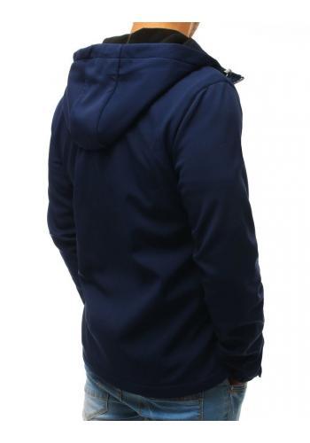 Pánská přechodná Softshell bunda s kapucí v modré barvě