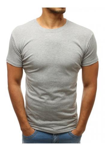 Pánské klasické tričko s výstřihem ve tvaru V v tmavě šedé barvě