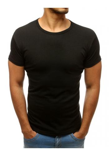 Pánské triko s kulatým výstřihem v černé barvě
