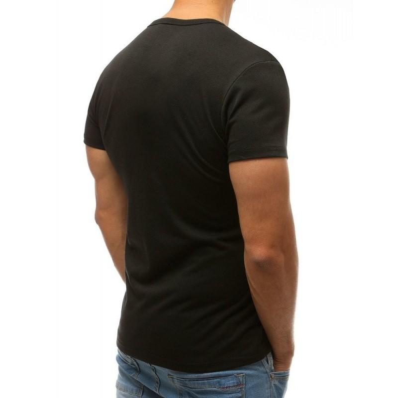 Tričko pro pány v bílé barvě s kulatým výstřihem
