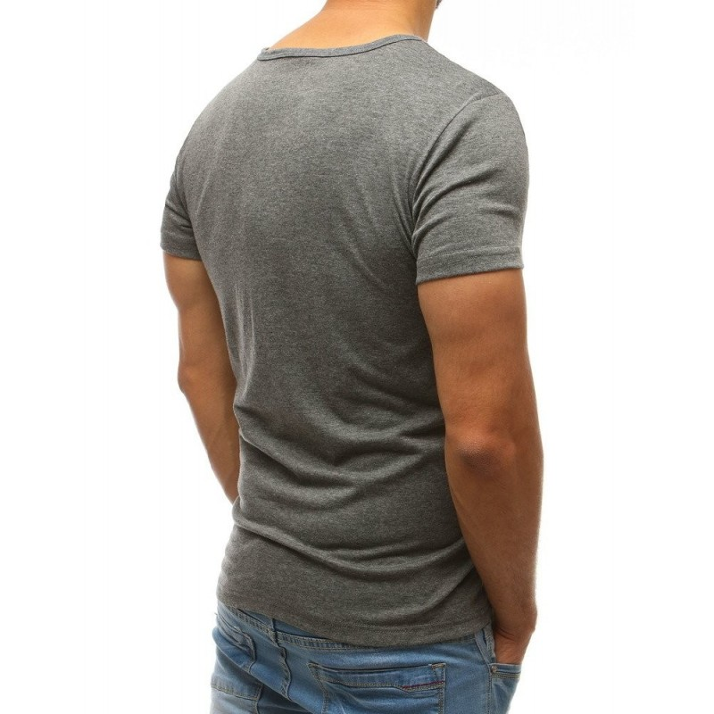 Pánské triko s kulatým výstřihem v červené barvě