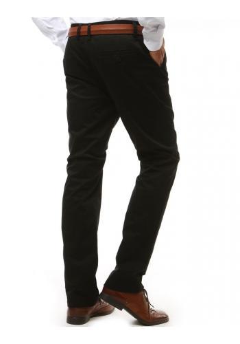 Klasické pánské kalhoty Chinos černé barvy