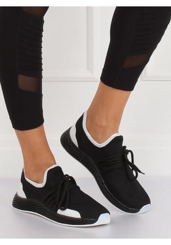 Černé stylové tenisky s kontrastními prvky pro dámy
