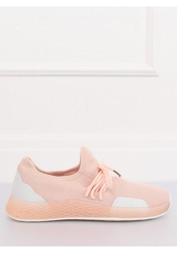 Růžové stylové tenisky s kontrastními prvky pro dámy