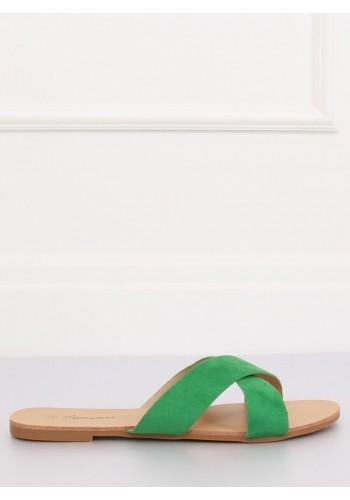 Zelené semišové pantofle pro dámy