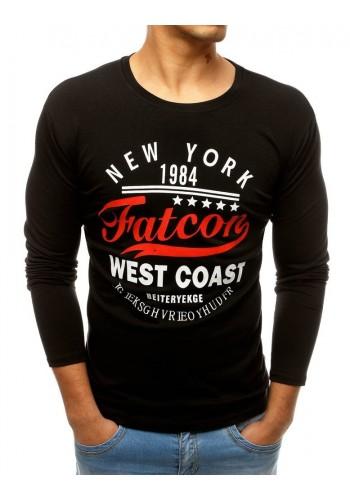 Pánské stylové tričko s potiskem v černé barvě