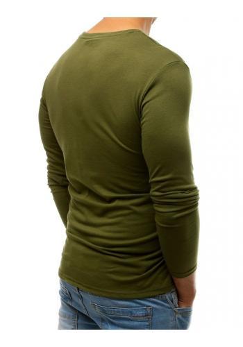Stylové pánské tričko zelené barvy s potiskem