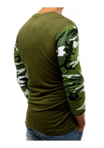 Sportovní pánské tričko zelené barvy s potiskem