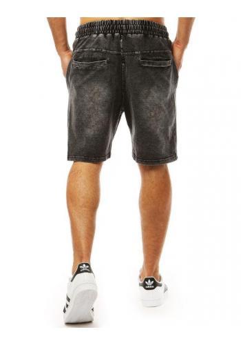 Pánské módní kraťasy s riflovým vzhledem v černé barvě